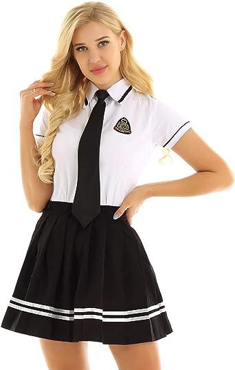 IEFIEL Disfraz Anime Mujer Uniforme Escolar Conjuntos de 3 ...