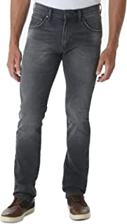 Men's Retro Slim Fit Jean (Dark Grey, 34W x 32L)