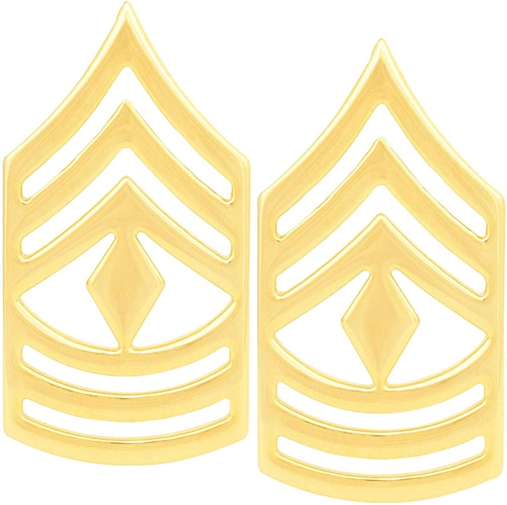 Army First Max 44% OFF Sergeant Pin Rank 1 year warranty Enlisted