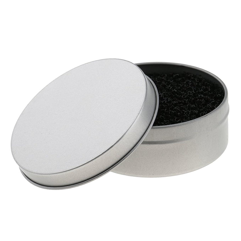 時期尚早デモンストレーション流出Homyl メイクアップブラシ クリーン スポンジ アイシャドウ色 クリーン スポンジ ドライブラシ クリーンスポンジ 実用 便利 2色選べる - 銀