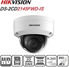 Hikvision Dome IP Camera DS-2CD2145FWD-IS 4MP 2.8Mm Lens PoE Network Security Camera HD 1080P Day/Night IR To 30M Wide Dynamic Range Ip67 IK10 H.264 Onvif English Version