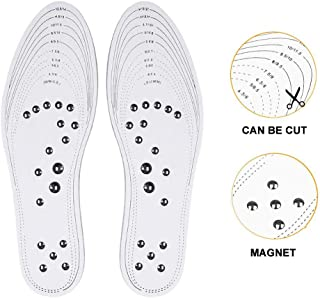 Magnetic Therapy Massage Insole, Aolvo Acupressure Insoles Health Boot Foot Inserts Breathable Shoe Pads Memory Foam Insoles for Plantar Fasciitis/Blood Circulation/Pain Relief for Men Women (1 Pair)