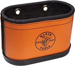 Klein Tools 5144BHB Hard-Body Oval Bucket with Kickstand and Hook Holes, Made of Non-Conductive Plastic and a Polypropylene Bottom