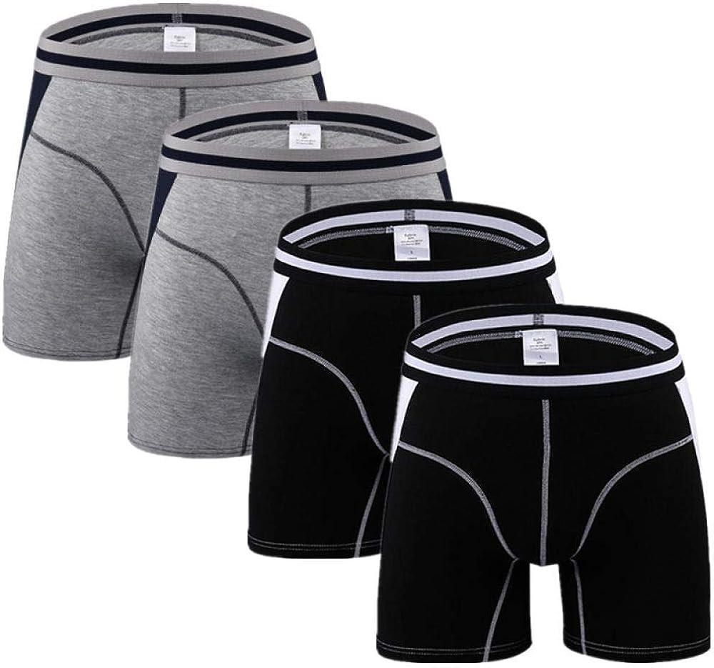 Briefs Men 4Pcs/Lot Men Long Boxer Mens Underwear Man Boxers Flexible Shorts Boxer