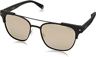 Polaroid Sunglasses PLD 6039/s/x Polarized Rectangular Sunglasses, Matte Black, 54 mm