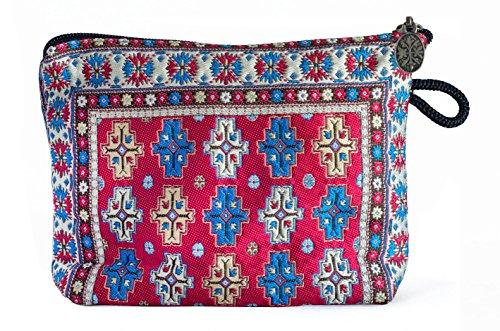 Orientalischer Teppich Kosmetiktasche, Clutch, Make-up-Tasche, Quchan 05 Design Kollektion