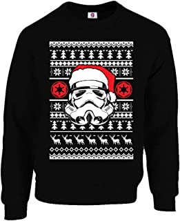 Graphic Impact Inspired Stars Ugly Face Santa Ugly Wars Christmas Ugly Sweater Xmas Jumper