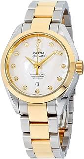 Seamaster Aqua Terra Automatic Diamond White Mother of Pearl Dial Ladies Watch 23120342055002
