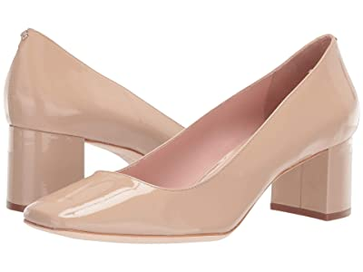 Kate Spade New York Kylah Block Heel Pump (Powder Patent) High Heels