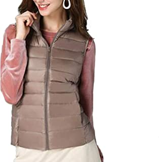 Surprise S Women White Duck Down Vest Women's Ultra Light Duck Feather Vest Jacket
