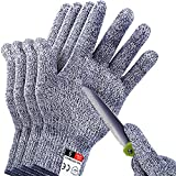 4 PCS (M+L) Cut Resistant Gloves Level 5 Protection for Kitchen, Upgrade Safety Anti Cutting Gloves...