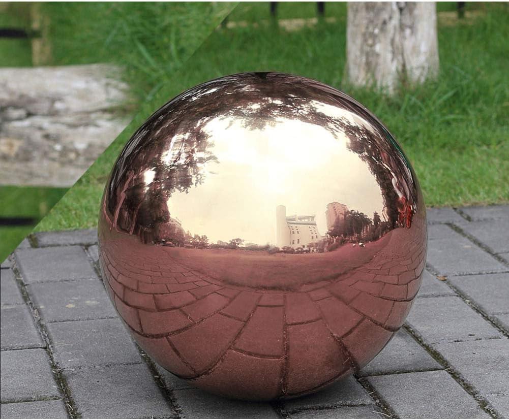HomDSim Boule de 15 cm de diam/ètre en acier inoxydable poli brillant brillant pour le jardin ou la maison.