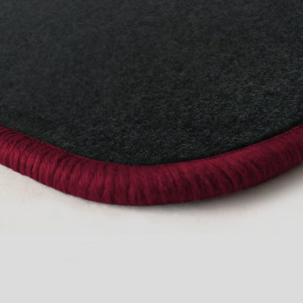 Randfarbe Nach Wahl Passgenaue Fußmatten Aus Nadelfilz Graphit Mit Rotem Rand 103 Auto