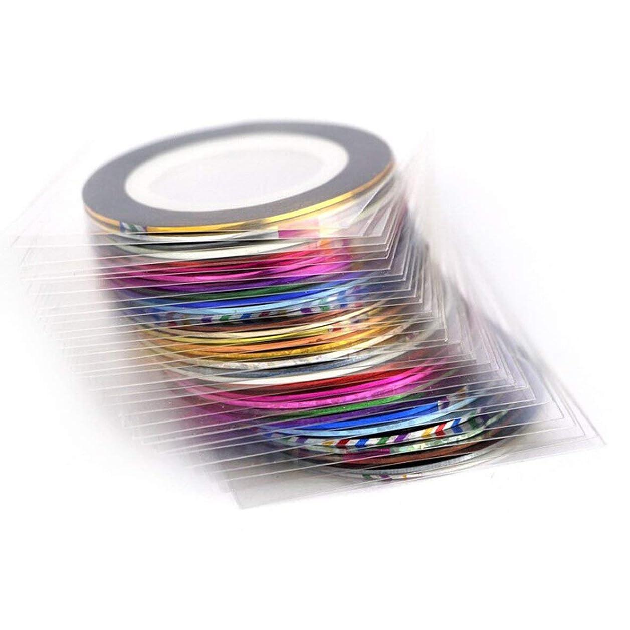 合理化キャップ悪党バードランタンネイルゴールドスレッドペースト色付きドローイングライン接着テープネイルステッカー10色20色30色
