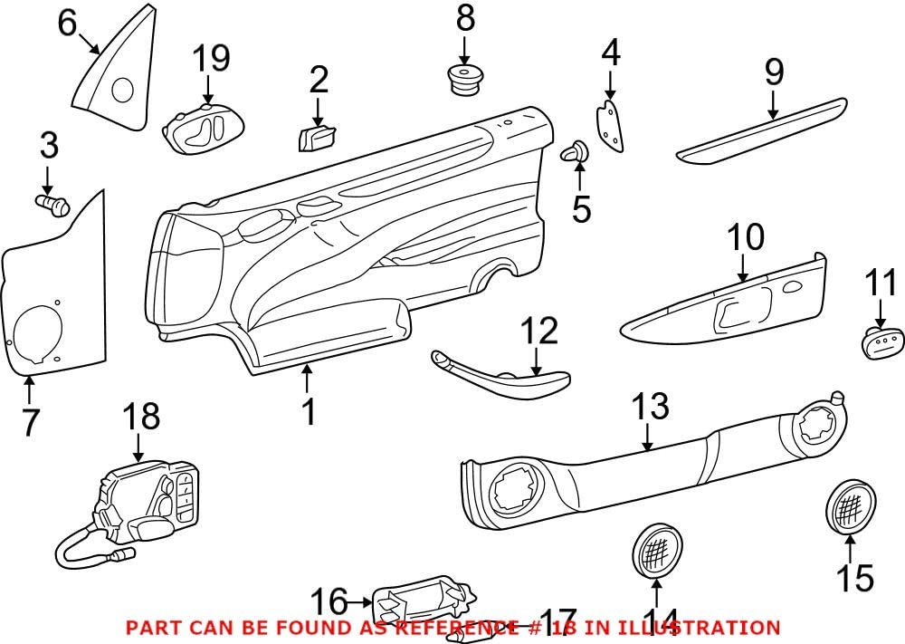 Genuine OEM Seat Switch Panel 2108209110 for Mercedes Philadelphia Large-scale sale Mall