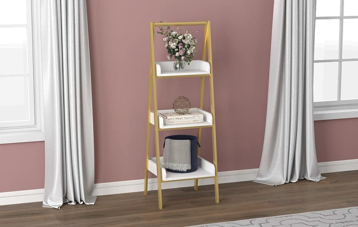 White Luxury goods and Gold Wall supreme Shelf Tiers Bordered 3 with