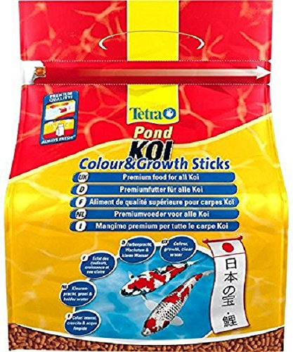 Tetra Pond Koi Sticks, Premium Fish Food for All Koi Fish, 7 Litre