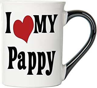 Cottage Creek Pappy Mug Large 18 Ounce Ceramic I Love My Pappy Coffee Mug/Pappy Gifts [White]