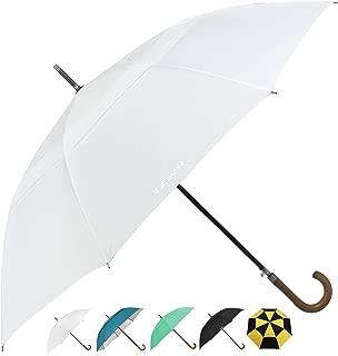 ZEKAR Wooden J-Handle Umbrella, 54/62 / 68 inch, Classic and UV-Protection Versions, Large Windproof Stick Umbrella, Auto Open Men Women Golf Umbrella