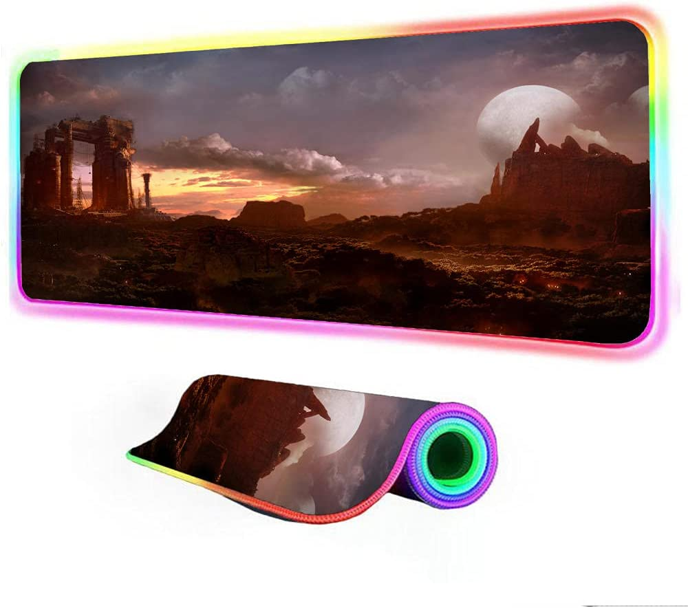 Gaming Mouse Minneapolis Mall Max 41% OFF Pads World of Warcraft Landscape P RGB