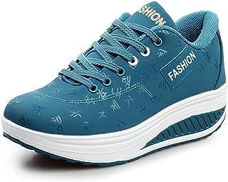 ROSEUNION Femme Plateformes Minceur Baskets de Running Anti-Choc Fitness Gym Sport Chaussures Casual Marcher Respirantes C...
