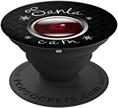Funny Vintage Red Santa Cam Camera Lens Snowflakes Christmas - PopSockets Grip and Stand for Phones and Tablets