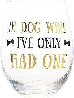 Mary Square 22935 Stemless Dog Wine, 16 oz, Glass
