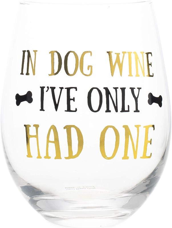 Mary Square 22935 Stemless Dog Wine 16 Oz Glass
