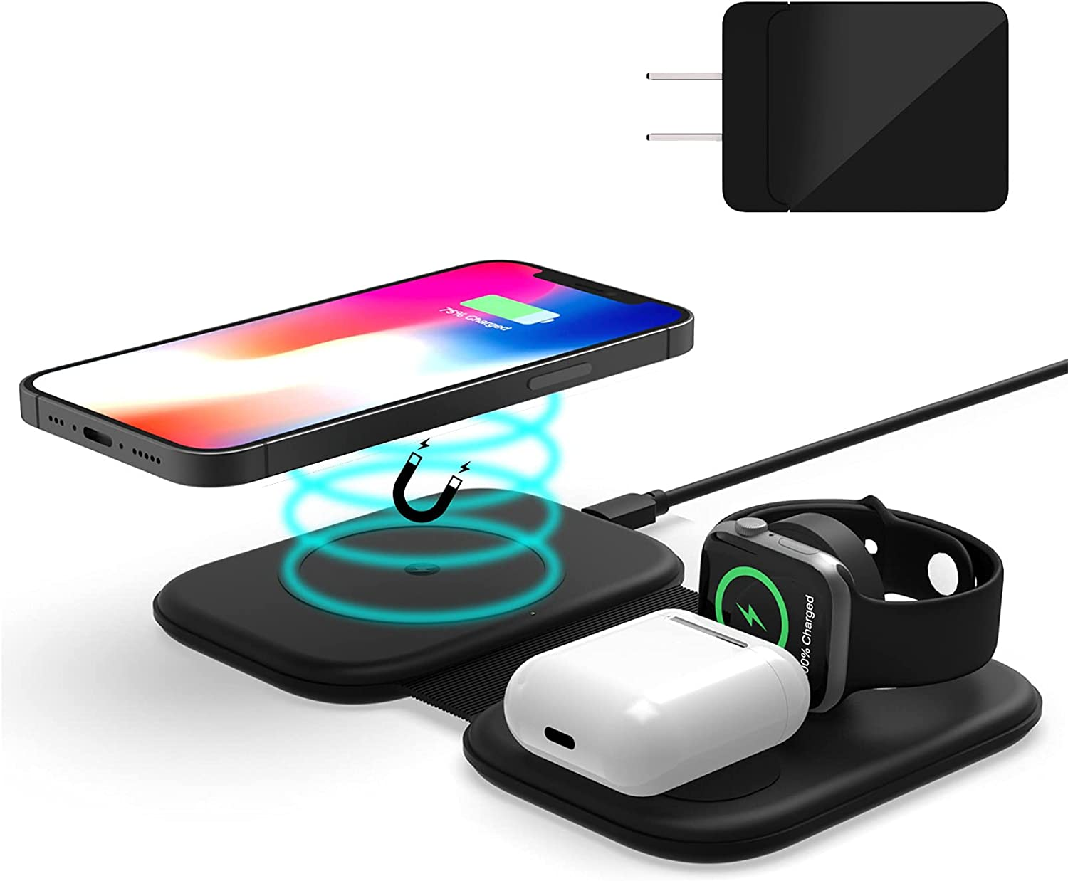 Wireless Charging Pad FACEVER Magnetic Charger Limited time trial price Sale price 3-in-1