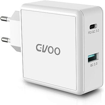 Gvoo Cargador rápida 3.0 49.5W y USB C Cargador PD Adaptador de ...