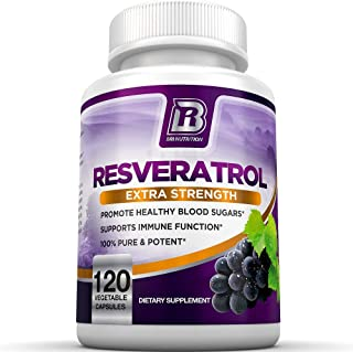 BRI Resveratrol - 1200mg Potent Trans-Resveratrol Natural Antioxidant Supplement with Green Tea and Quercetin Promotes Ant...