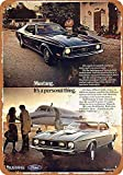 Ford Mustang Mach Blechschilder Vintage Metall Poster Retro