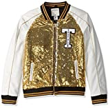 True Religion Girls' Big Sequin Jacket, Gold Multi, L