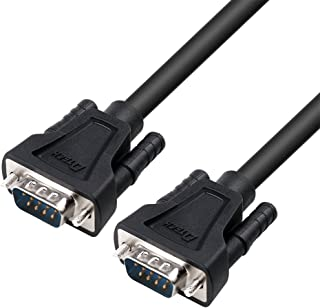 DTECH 10ft RS232 Serial Cable Male to Male DB9 9 Pin Straight Through