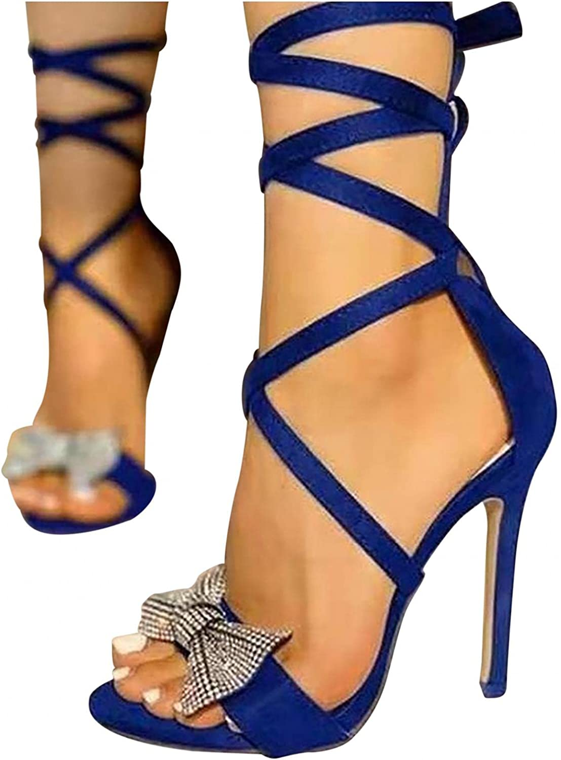 Xudanell 2021new shipping free Sandals for Women Rounded Toe Hee Lace High Up Open Max 71% OFF