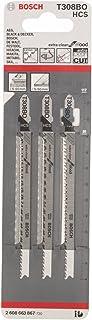 Bosch 2 608 663 867 - Hoja de sierra de calar T 308 BO - Extraclean for Wood (pack de 3)