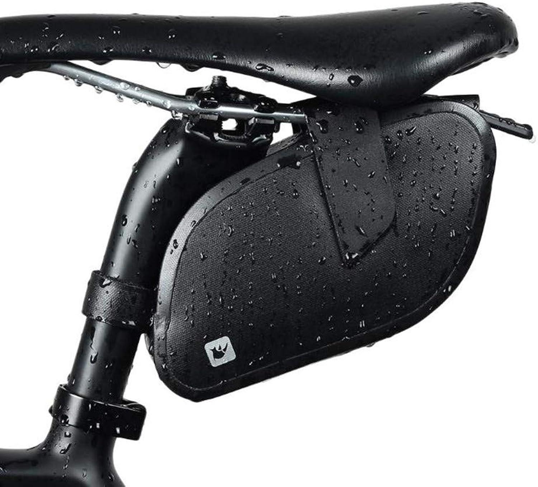 Bike Saddle Bag Mountain Bike Seat Pack Bicycle Tail Bag Outdoor Waterproof Saddle Bag Tail Seat Storage Bag Black
