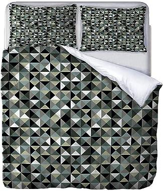 JJDSL Twin Duvet Covers Three-Dimensional Geometric Pattern 229 x 229cm Hotel Luxury Premium Bedding Collection 100% Microfib
