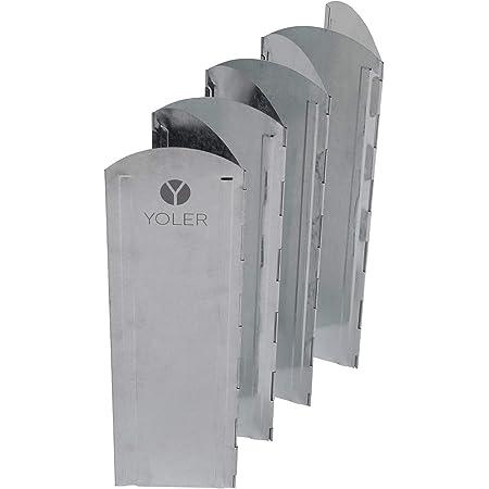 ヨーラー(YOLER) 大型風防板 ウインドスクリーン 折り畳み式 風よけ 亜鉛メッキ鋼板 8枚連結 専用収納ケース付き