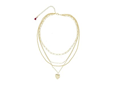 SHASHI Layer of Heart Necklace (Gold) Necklace