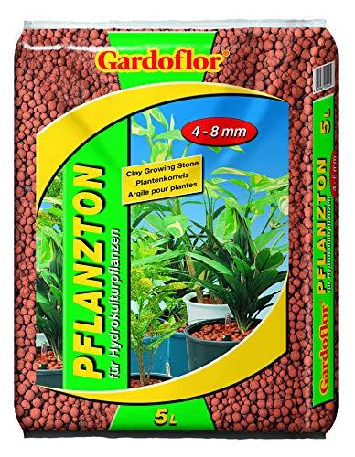 Gardoflor Blähton Hydrokultur Bodenverbesserer Perlit Drainage Hydrokultur (Körnung 4-8mm - 5 Ltr.)
