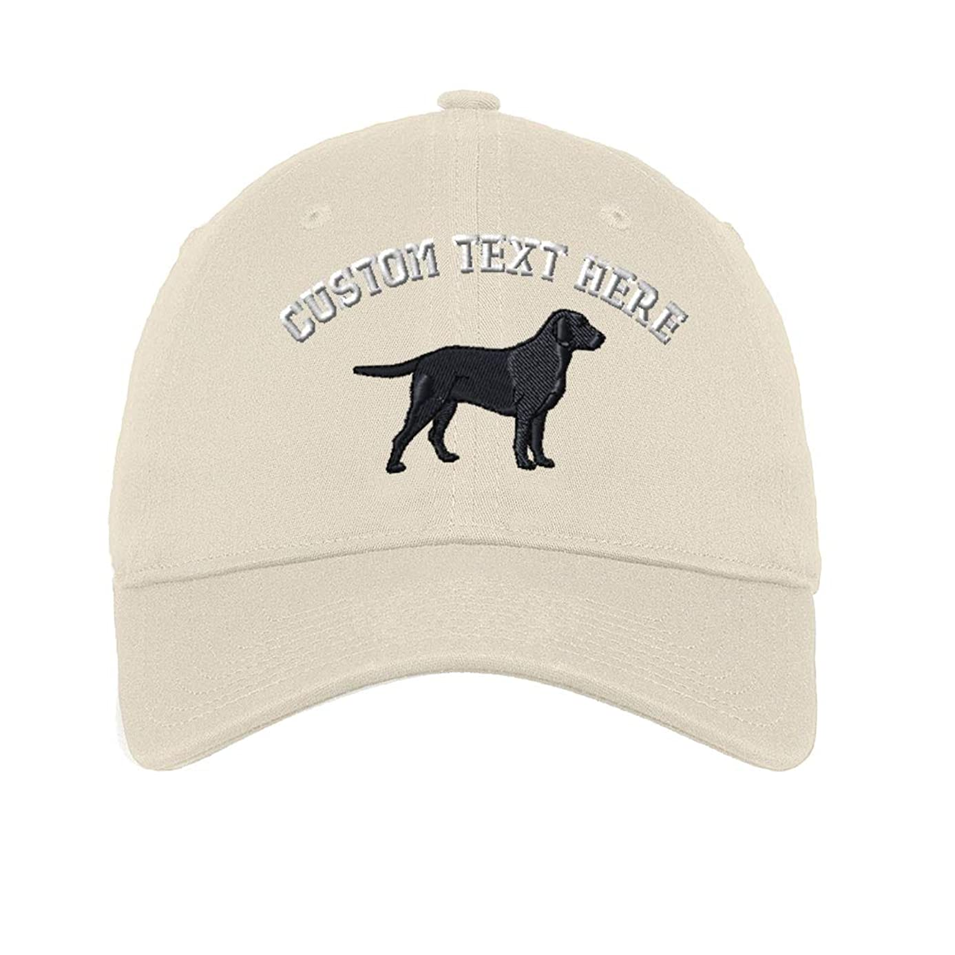 Custom Lab Retriever Embroidery Design 6 Panel Unstructured Baseball Hat