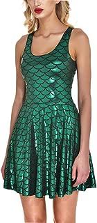 Women's Shiny Mermaid Sleeveless Short Tank Dresses