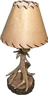 Single Antler Lamp With Deer Shade