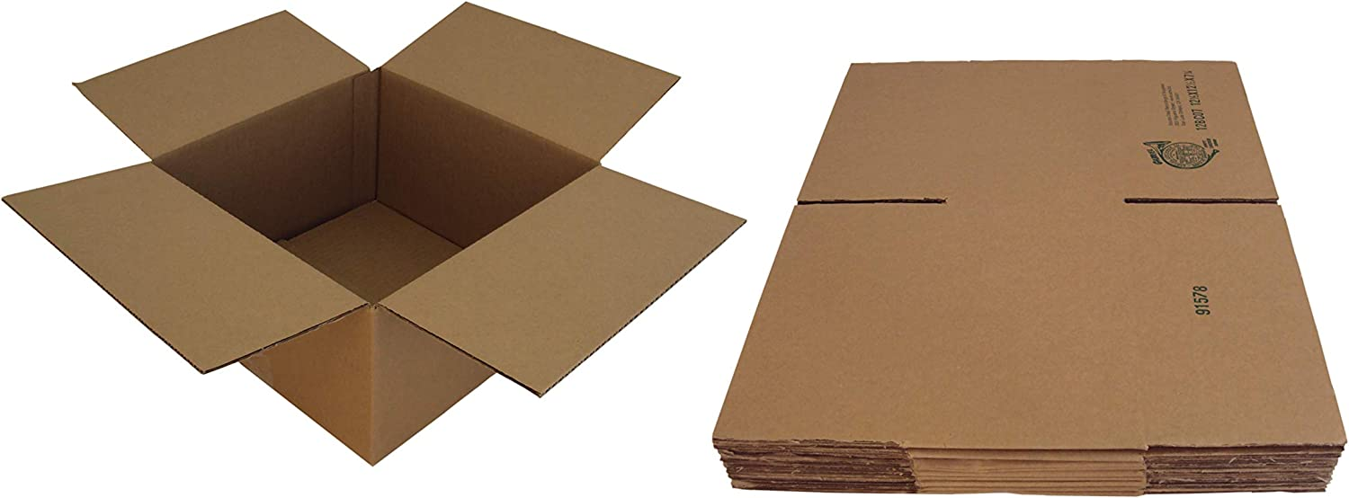 10 Kraft New York Mall Brown Record Boxes - Oakland Mall Holds of 60 Records 200 12