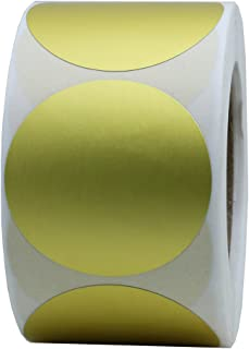 Hybsk 1.5 Inch Fluorescent Red Blank Target Pasters for Shooting 500 Adhesive Target Stickers Per Roll (Gold Foil)