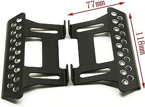Que-T A Pair Side Pedal Plates for 1:10 Axial SCX10 RC Crawler Car Titanium #E (Black)