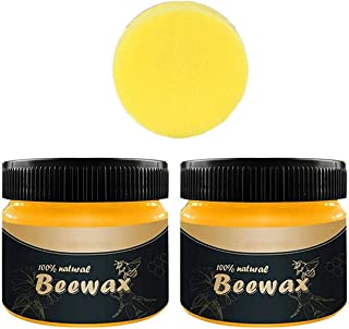 2PCS Beeswax Furniture Polish,Wood Seasoning Beewax - Traditional Beeswax Polish for Wood&Furniture,All-Purpose Beewax for...