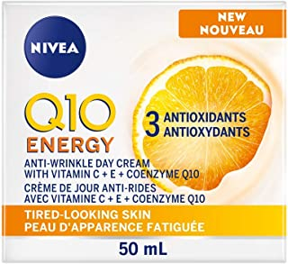 NIVEA Q10 Energy Anti-Wrinkle Day Cream for Tired-Looking Skin (50mL),Anti-Aging Cream with Vitamin C, E and Coenzyme Q10,...