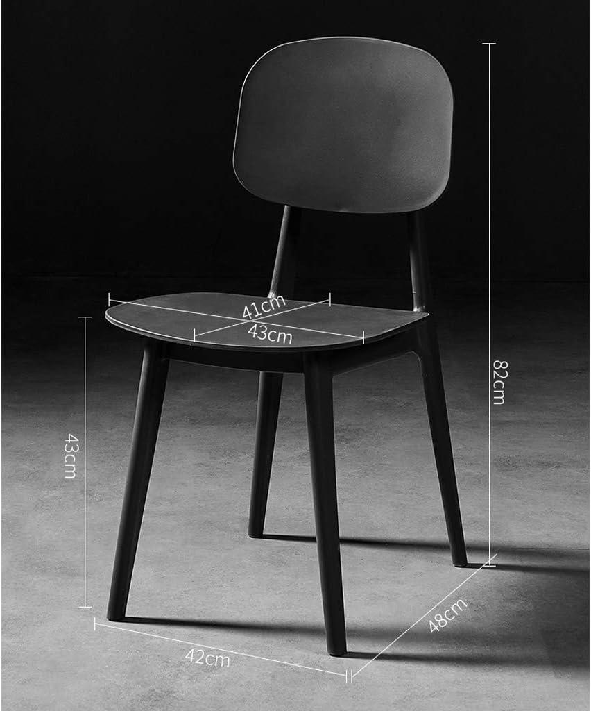 XXT Chaise de salle, Chaise de bureau simple, créative Dossier, Chaise Loisirs, Maison adulte Chaise de salle Durable (Color : Yellow) Light Grey